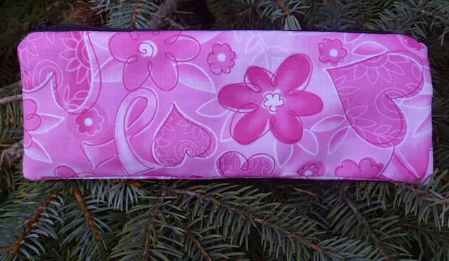 Pink ribbons breast cancer awareness pen and pencil case, The Scribe
