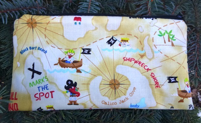 Pirate Map Deep Scribe pen and pencil case