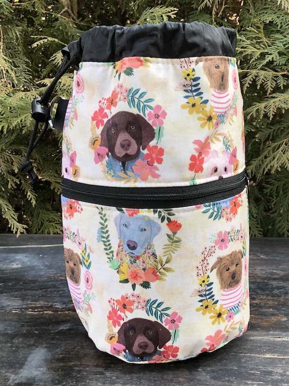 Puppy Wreaths Kipster Knitting Project Bag