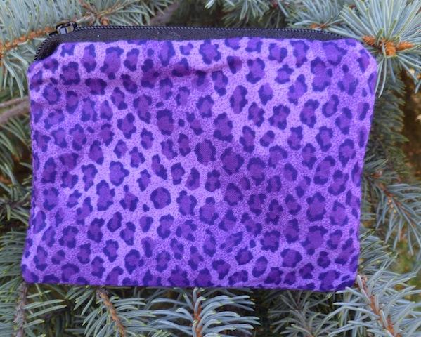 Purple Leopard Spots Coin Purse, The Raven