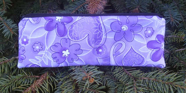 Purple awareness ribbons pen and pencil case, The Scribe