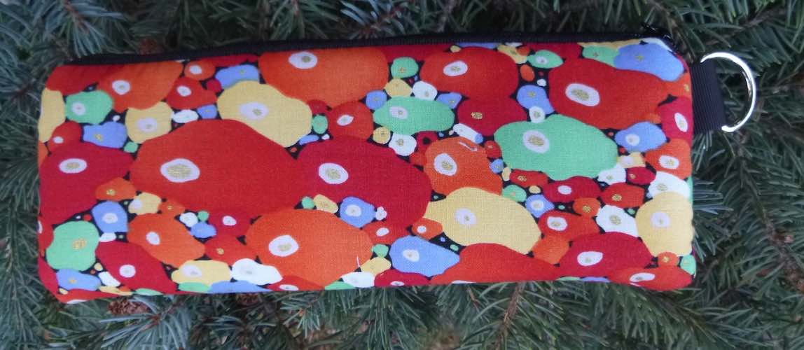 Red Bubbles Padded Zippered Glasses Case, The Spex