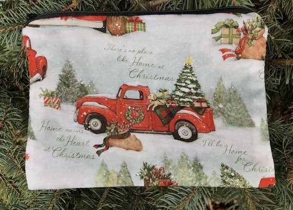 At Christmas All Roads Lead Home zippered bag, The Scooter