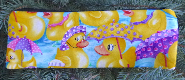 Rubber Ducky pen and pencil case, crochet hook pouch, The Scribe