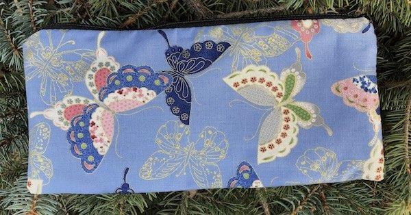 Sakura Butterflies Deep Scribe pen and pencil case