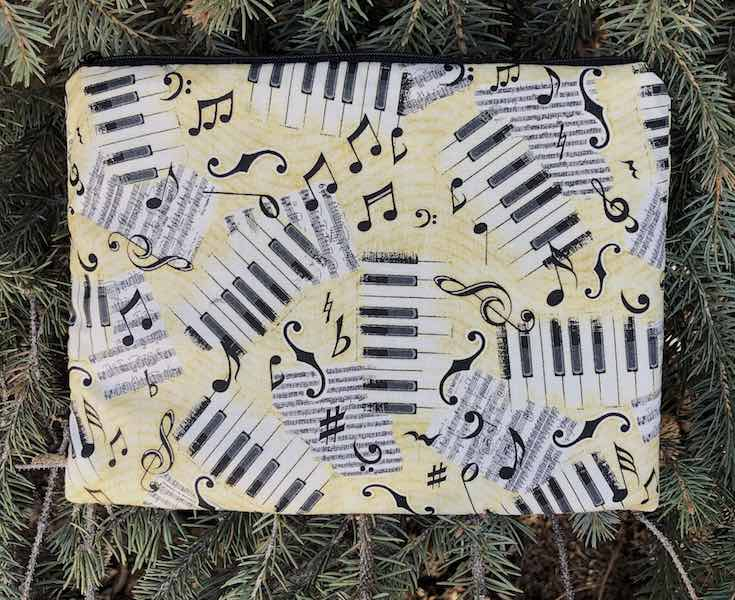 Scattered Music Mahjongg card and coin purse, The Slide