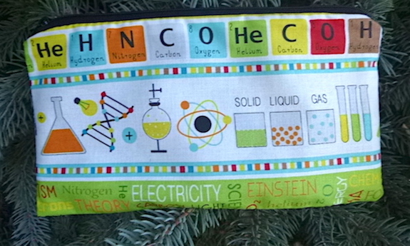 Science Class Stripe Deep Scribe pen and pencil case