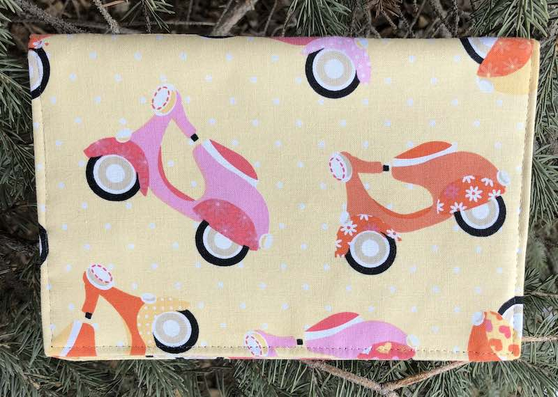 Scooters on sorbet Wallet on a String-CLEARANCE