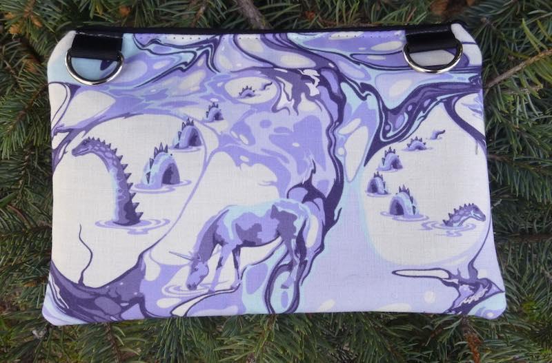 Sea Serpent clutch, smart phone wallet, mini shoulder bag, iPhone 8 Plus wallet, The Wisteria