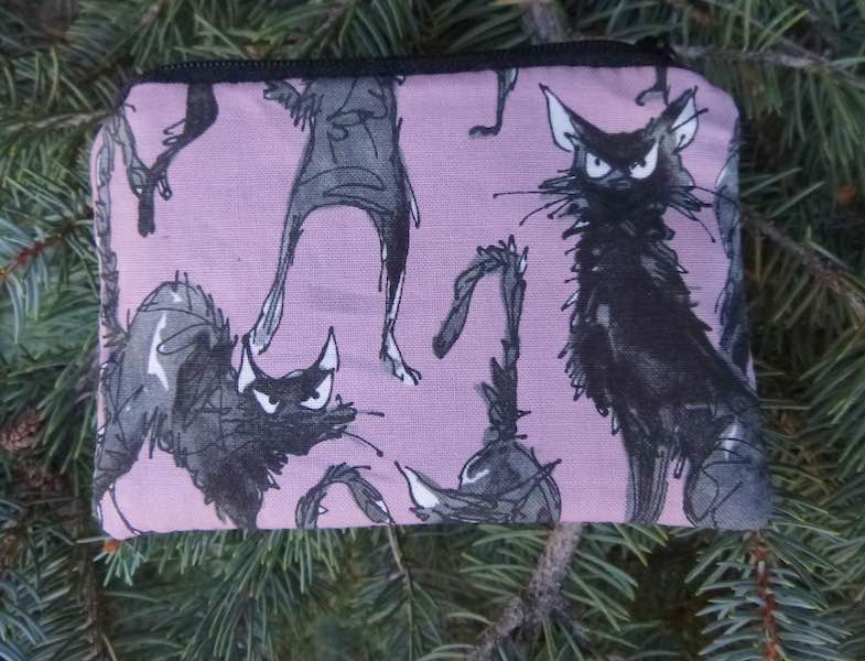 Sebastian Ghastlie Mauve Coin Purse, The Raven