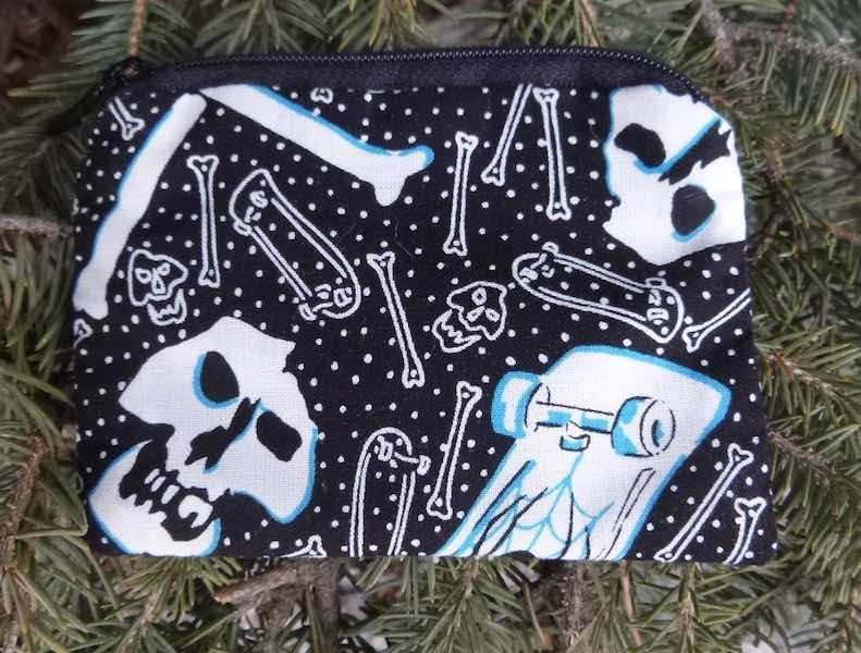 Skateboards and Skulls Coin Purse, The Raven