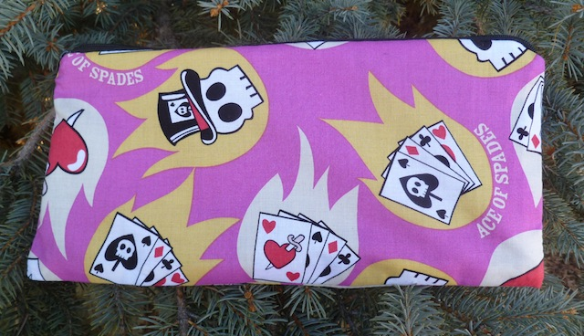 Cards and Skulls Zippered pouch for game card decks, The Carder