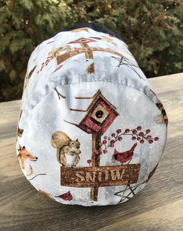 Snow Day SueBee Round Drawstring Bag