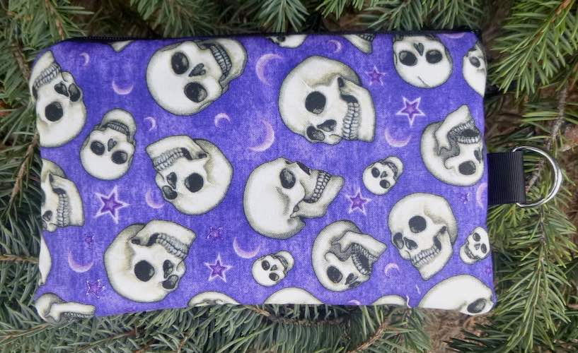 Speaking Skulls Mini Wallet Purse Organizer, iPhone wallet, The Sweet Pea