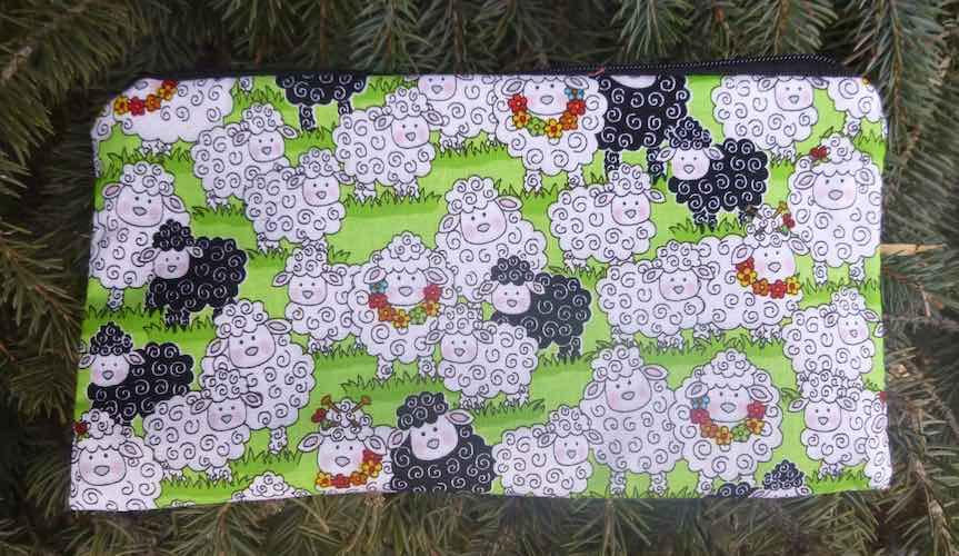 Springtime Sheep Deep Scribe pen and pencil case