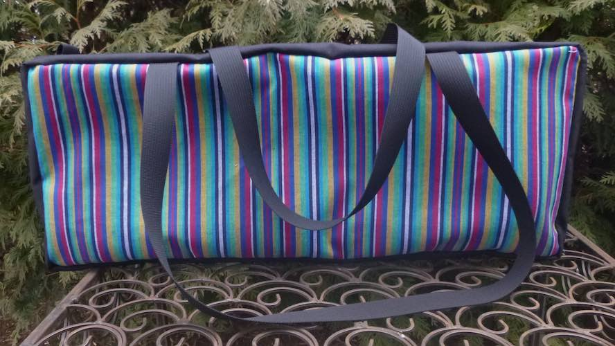 Striped Mahjongg Storage Set The Zippered Tote-ster and Large Zini