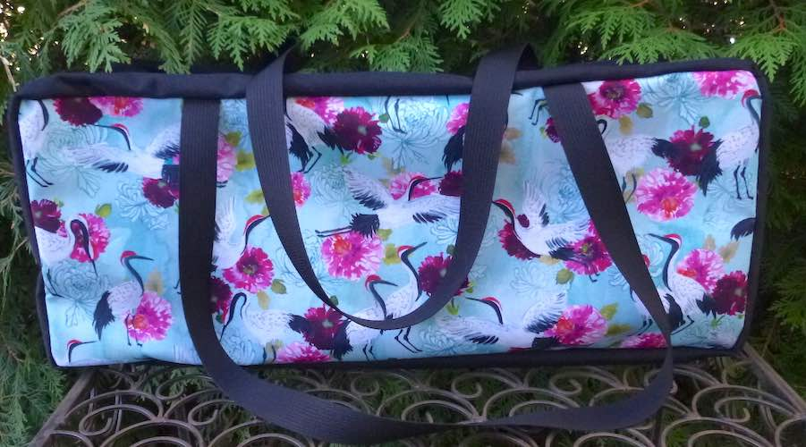 Summer Cranes Mahjongg Storage Set The Zippered Tote-ster and Large Zini