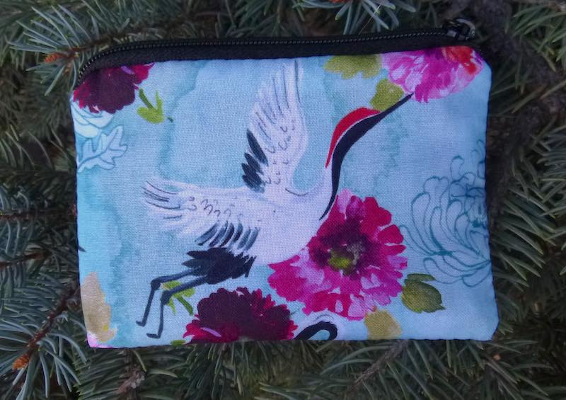 Summer Cranes Coin Purse, The Raven