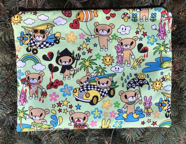Teddy's Adventures Supa Scribe extra large pencil case or makeup bag