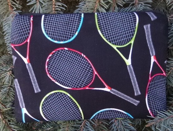 Tennis Rackets on Black zippered bag, The Scooter