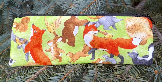 Woodland Joy pen and pencil case, crochet hook pouch, The Scribe