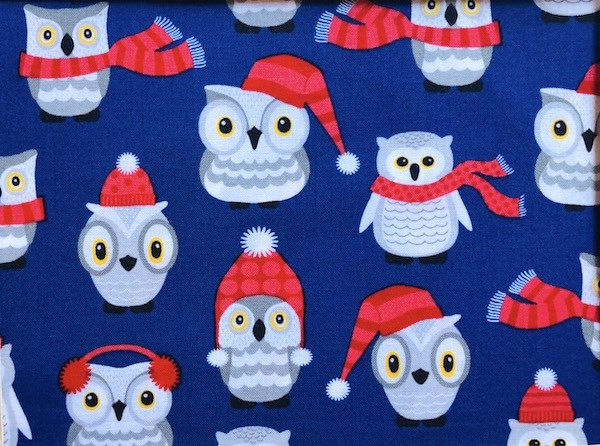 Winter Owls Adjustable Face Mask - MADE TO ORDER