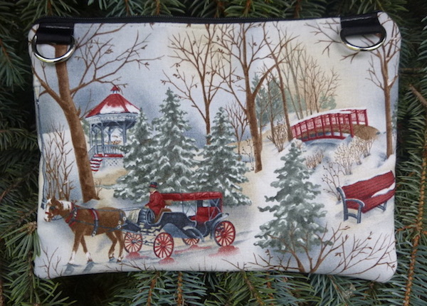 Winter Day Morning Glory convertible clutch wristlet or shoulder bag-CLEARANCE