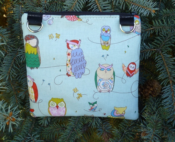 Wise owls convertible clutch, wristlet or shoulder bag, The Squirrel-CLEARANCE
