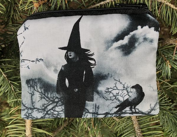 Witches Gathering Coin Purse, The Raven