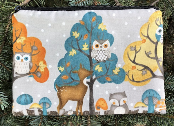 Woodland Friends zippered bag, The Scooter