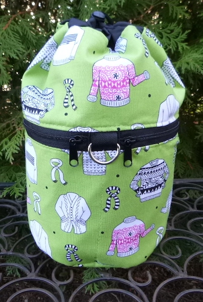 Wool Ewe Sweaters green or pink Kipster Knitting Project Bag