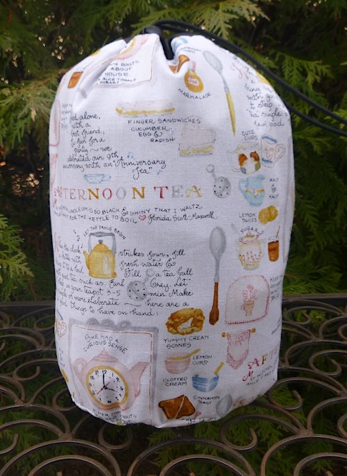 Afternoon Tea SueBee Round Drawstring Bag