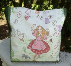 Alice in Wonderland tumbling cards Tallullah Purse-CLEARANCE