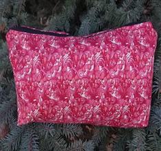 Art Nouveau Flowers Large Zini Flat Bottom Bag
