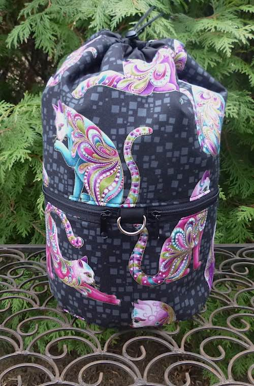 Artist-O-Cats knitting project bag, large Kipster