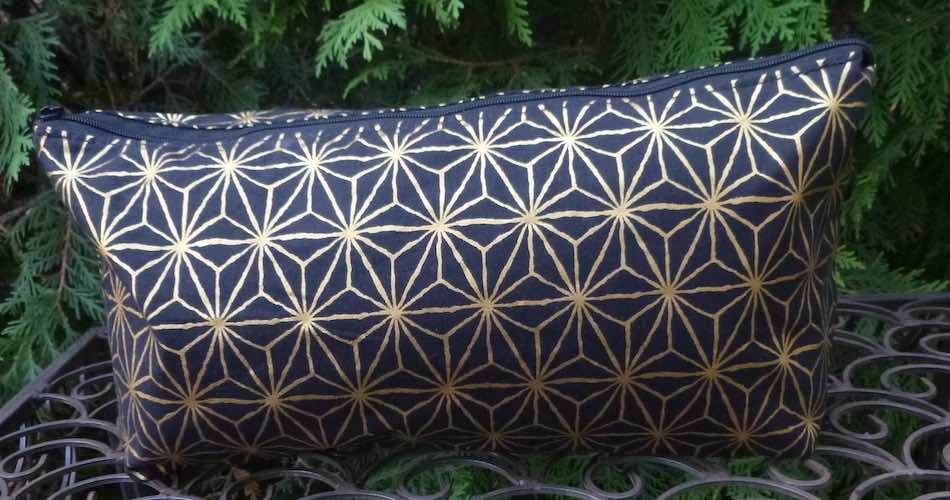 Asanoha Large Zini Flat Bottom Bag