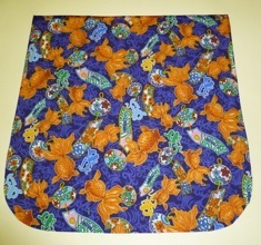 Asian Goldfish on purple Pick your Size Morphin Messenger Bag Flap