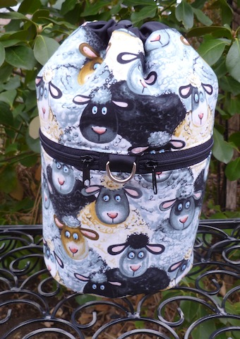 Barnyard Sheep Kipster Knitting Project Bag