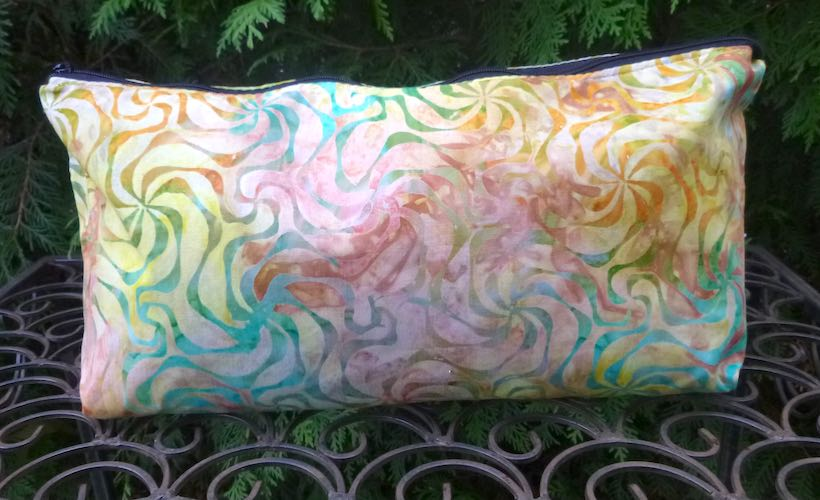 Pinwheels Batik Large Zini Flat Bottom Bag
