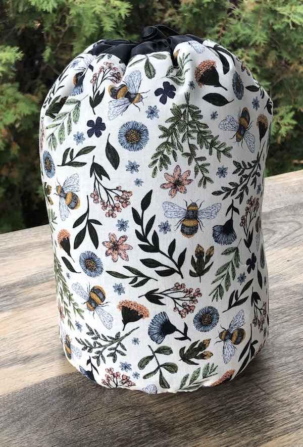 Bee Kind SueBee Round Drawstring Bag