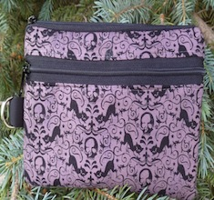 Black Cats and Skulls Mini Wallet Purse Organizer, The Sweet Pea