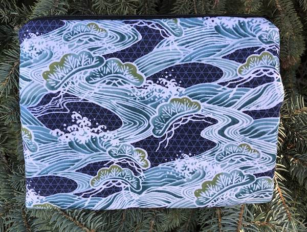 Bonsai and Waves Mahjongg card and coin purse, The Slide