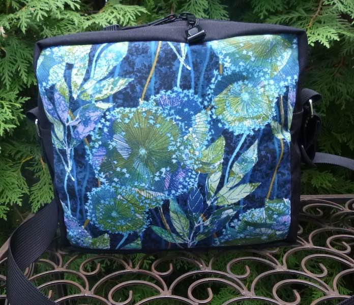 Botany in Blue Shoulder Bag, The Raccoon Plus
