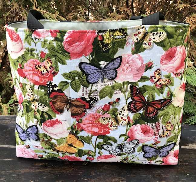 Butterflies and Flowers Medium Fleur Tote, wide