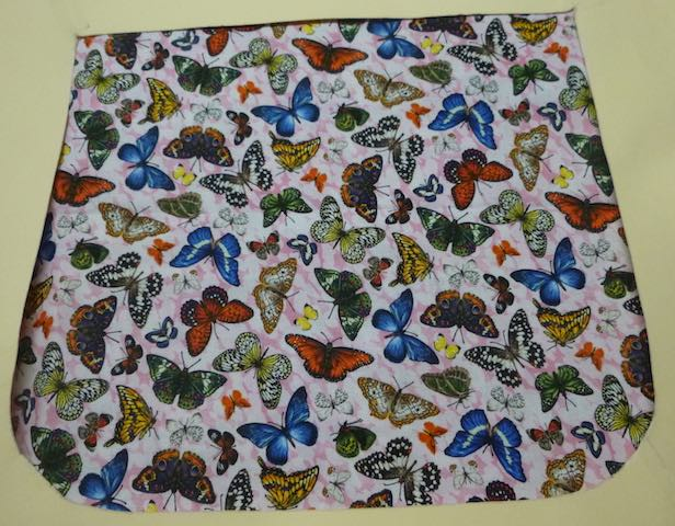 Butterflies on Pink Pick your Size Morphin Messenger Bag Flap