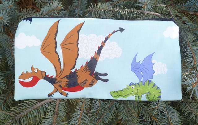 Flying Dragons Zippered pouch for game card decks, The Carder