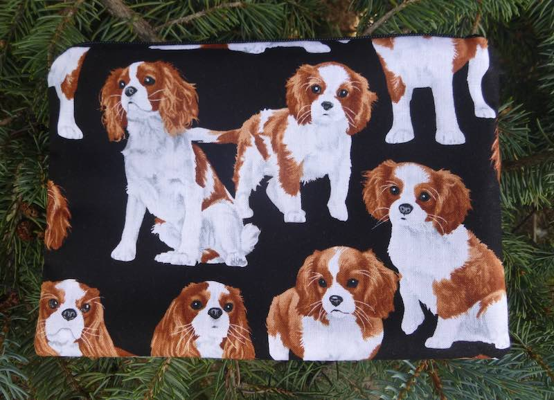 Cavalier King Charles Spaniels zippered bag, The Scooter