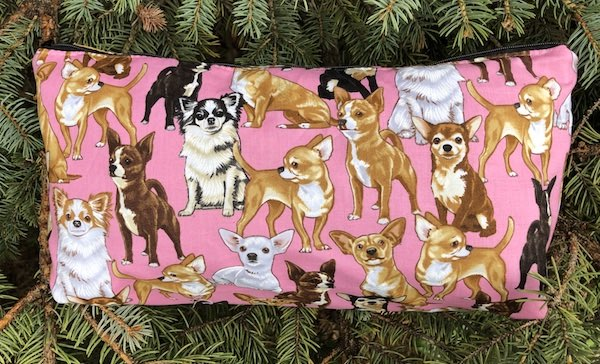 Chihuahuas Large Zini Flat Bottom Bag