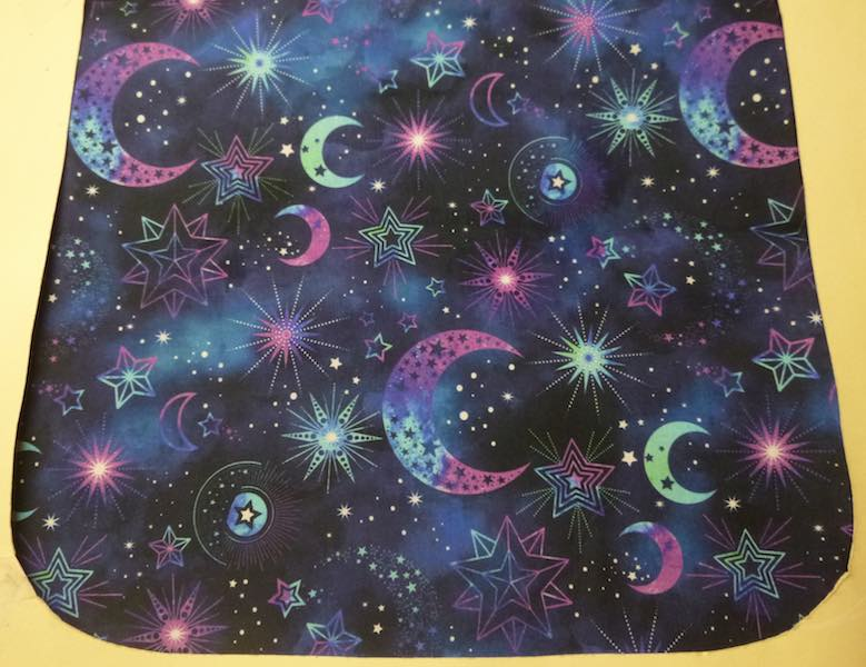Cosmic Universe in blue, Pick your Size Morphin Messenger Bag Flap