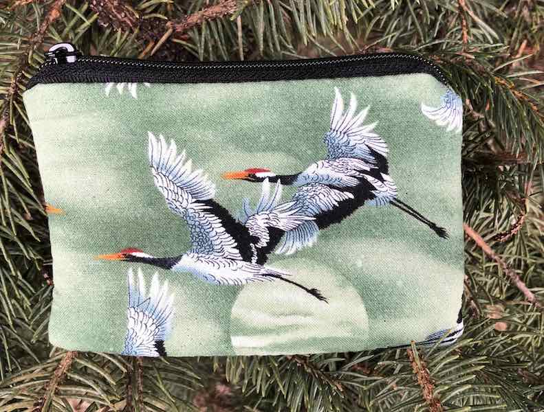Cranes and Moon Coin Purse, The Raven